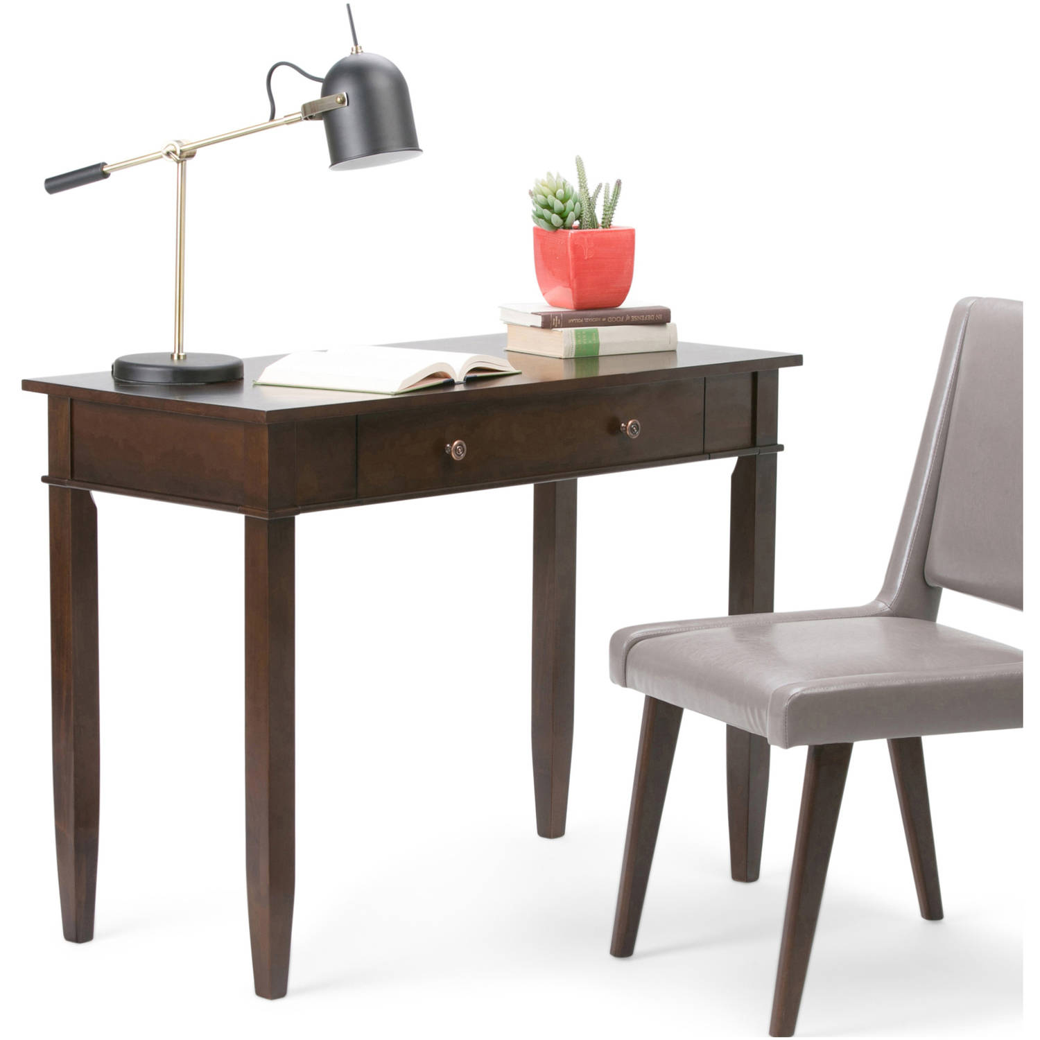 Brooklyn + Max Richland Collection Dark Tobacco Brown Home Office Desk