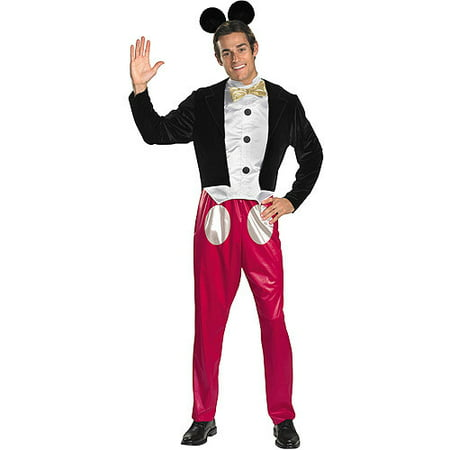 Mickey Mouse Adult Halloween Costume, Size: Men's - One Size - Mens Mickey Costume