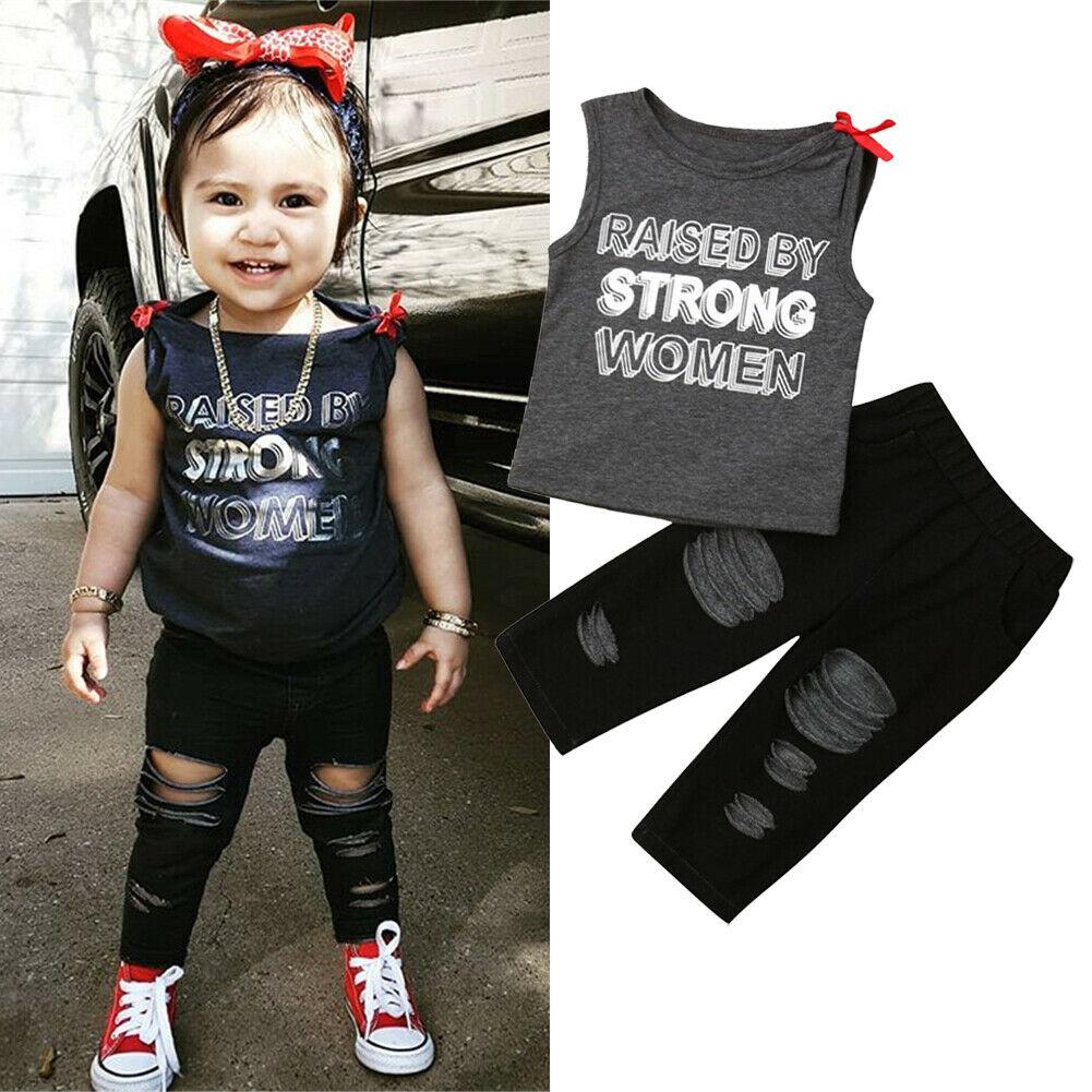 Toddler Baby Girl Hawaii Clothes Set Sleeveless Vest Top+Flamingo Leaf Printed Shorts Summer