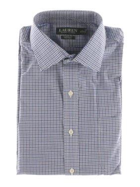Ralph Lauren Mens Checkered Button Up Dress Shirt