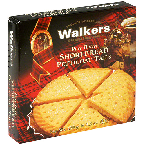 Walkers Pure Butter Shortbread Petticoat Tails, 5.3 oz, (Pack of 6)