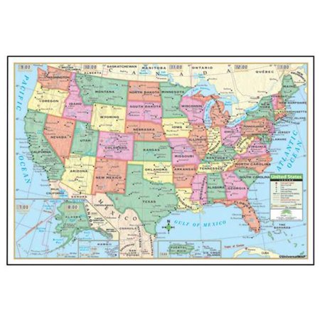 Universal Map 15007 40 X 28 Inch Us Paper   Rolled Map