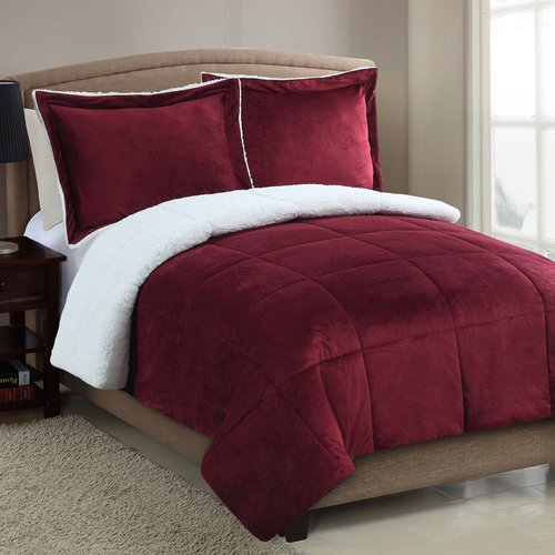 Red Barrel Studio Geneva Micro Mink Sherpa Comforter Set
