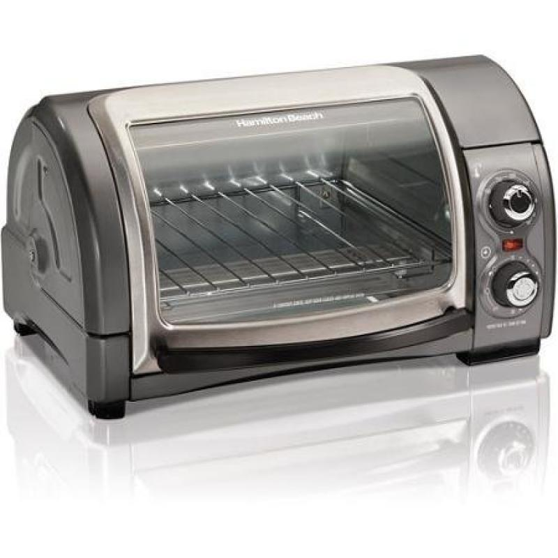 Easy Reach Toaster Oven Includes Bake Pan and Broil Rack with 2-rack