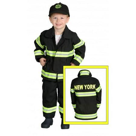 Jr. Firefighter Suit Size 18M NEW YORK