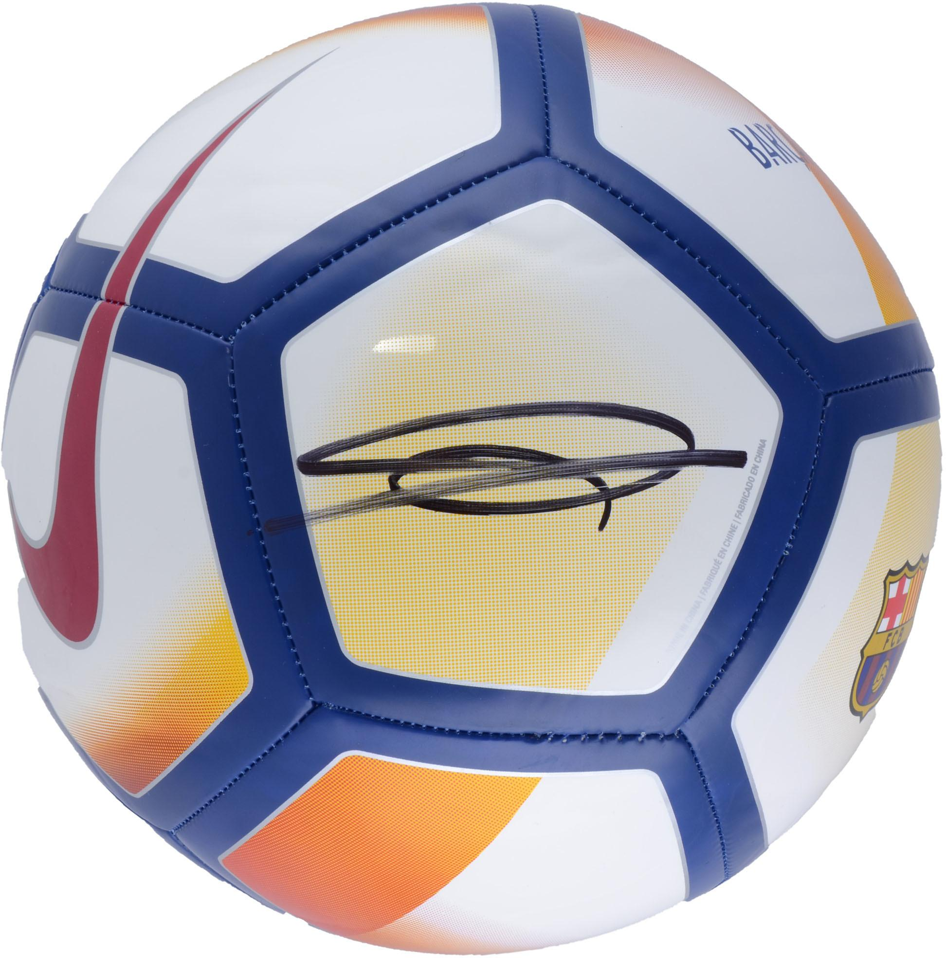 Ousmane Dembele Barcelona Autographed Barca Soccer Ball - Fanatics Authentic Certified