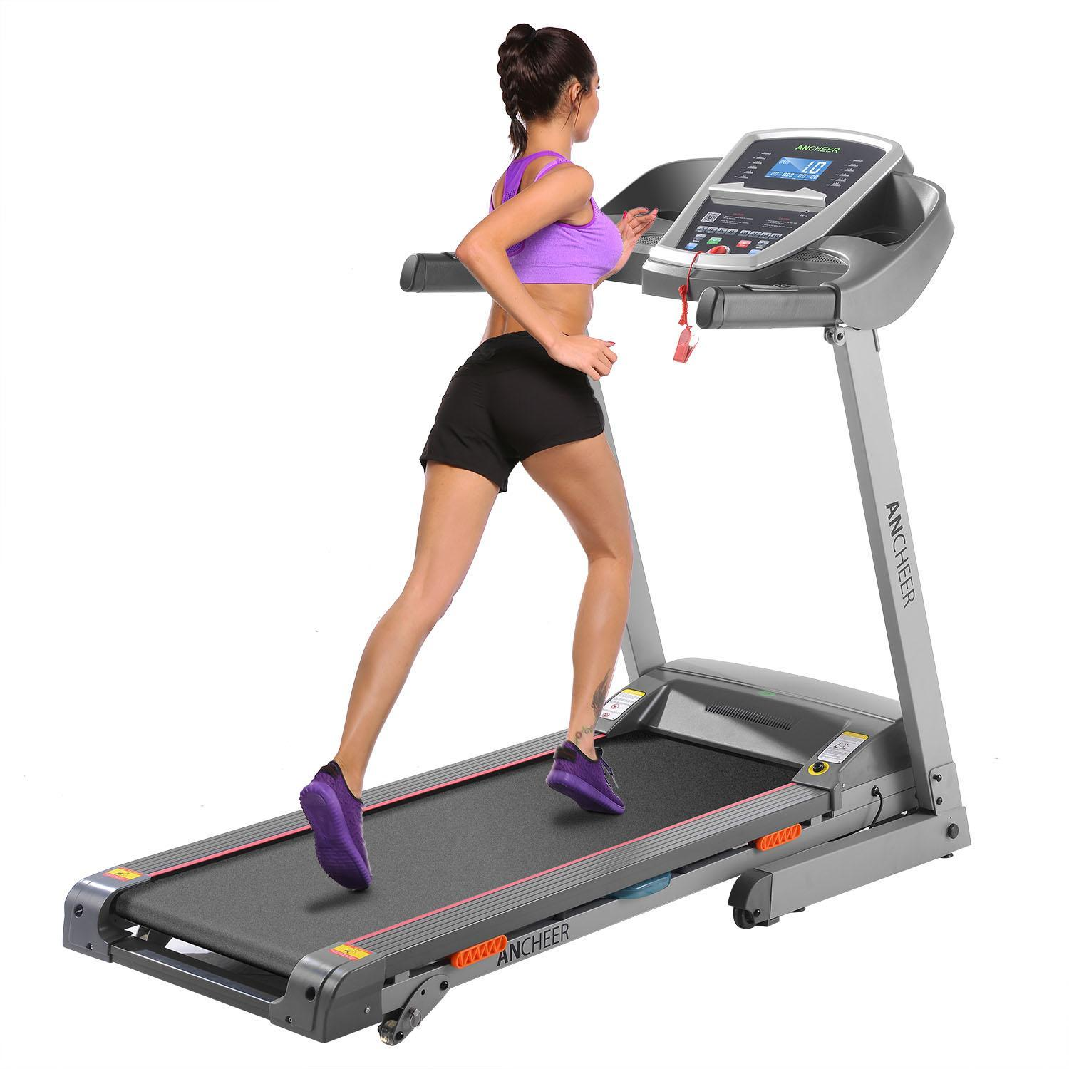 3.0Hp Electric Folding Treadmill Digital Screen Gym Treadmill Health Fitness Training Equipment