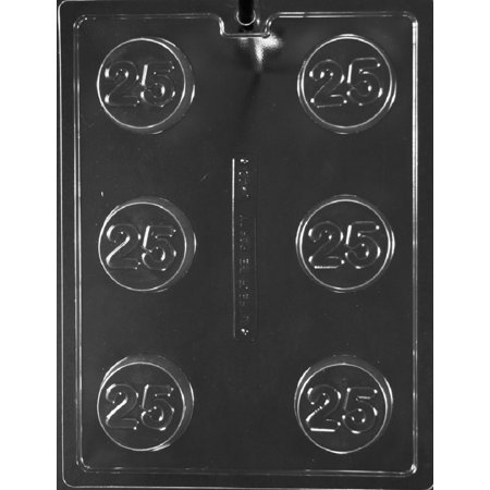 Grandmama's Goodies L042 #25 25th Oreo Cookie Mold Chocolate Candy Soap Mold with Exclusive Molding Instructions](Halloween Brownies With Oreos)