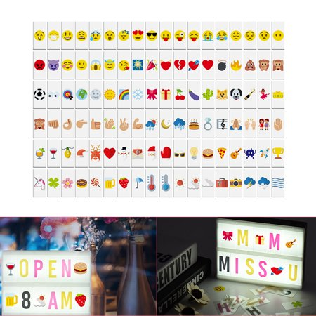 108pcs Colorful Interchangeable Emotion Symbols Characters Cards Free Combination for DIY LED Cinema Light Box Message Board for Birthday Anniversary Wedding Party Store Sign Kids Study - Signs By Birthday