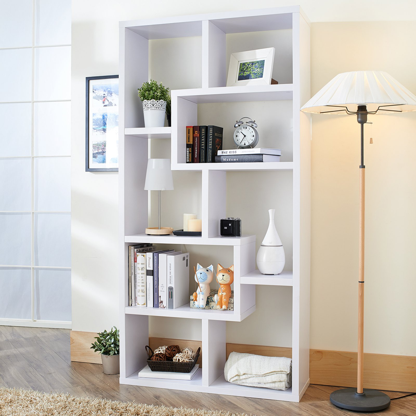 products cabinet bookcase storage industrial woodwaves bookshelf door modern glass