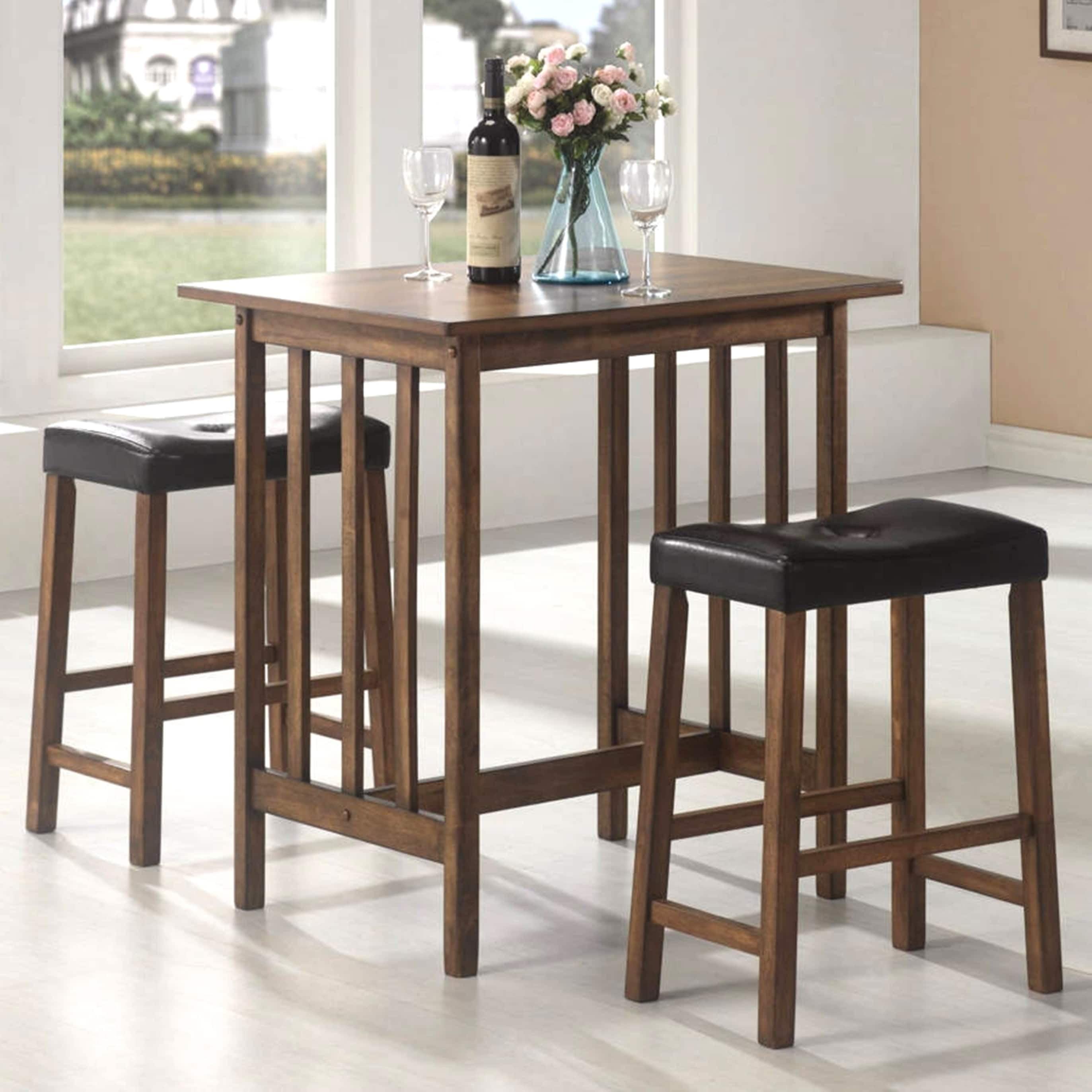 A Line Furniture Mid Century Design 3-piece Counter Height Pub Set