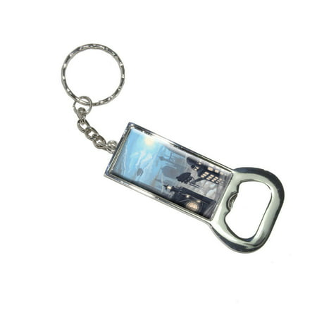 Steampunk City - Steam Airship Dirigible Zeppelin Bottle Opener Keychain](Steampunk City)