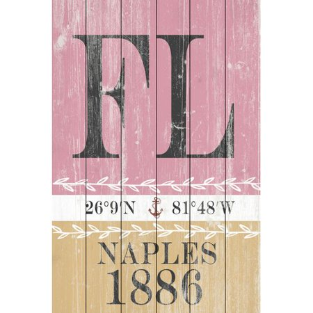- Highland Dunes 'Naples 1886' Textual Art on Wood