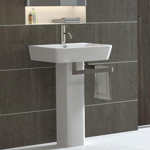 Bathroom Sinks At Walmart bissonnet emma full pedestal overflow bathroom sink - walmart