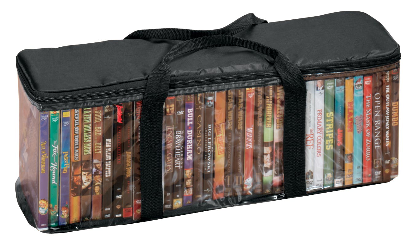 Exceptional DVD Storage Case With 2 Dividers