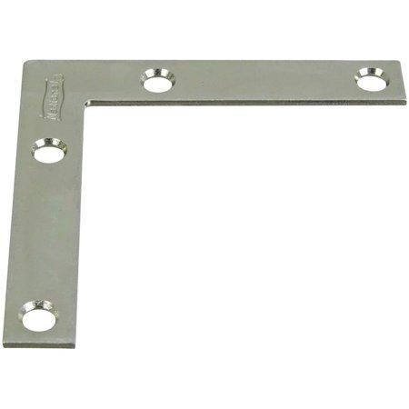 Flat Corner Iron, Zinc, 3 x 1/2-In.
