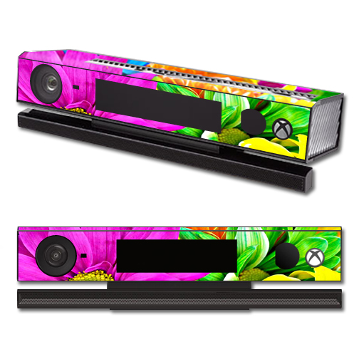 Mightyskins Protective Vinyl Skin Decal Cover for Microsoft Xbox One Kinect wrap sticker skins Colorful Flowers