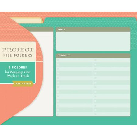 Project File Folders (Kari Chapin) : 6 Folders for Keeping Your Work on (An App To Keep Track Of Expenses)