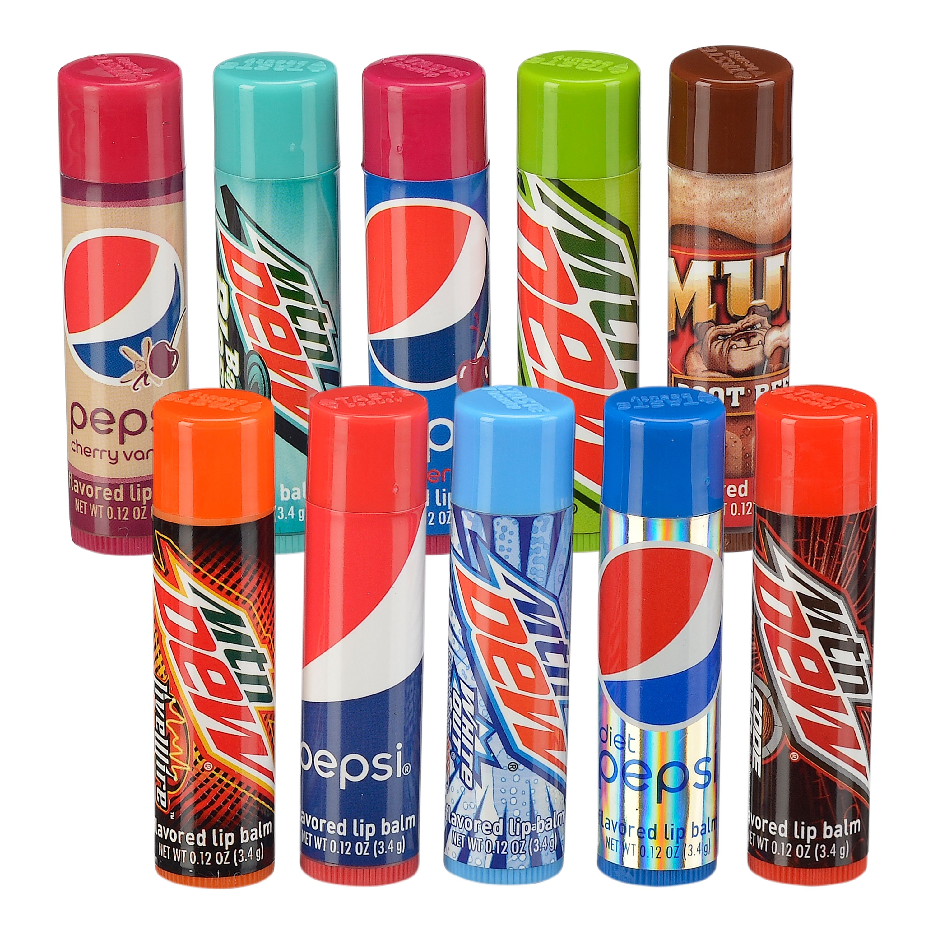 Pepsi Cola Soda Flavored Lip Balm Variety Pack, 10 Pieces ($9.99 Value)