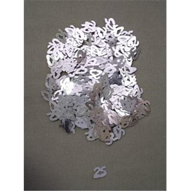 10mm Silver 25 Confetti - Pack of 12