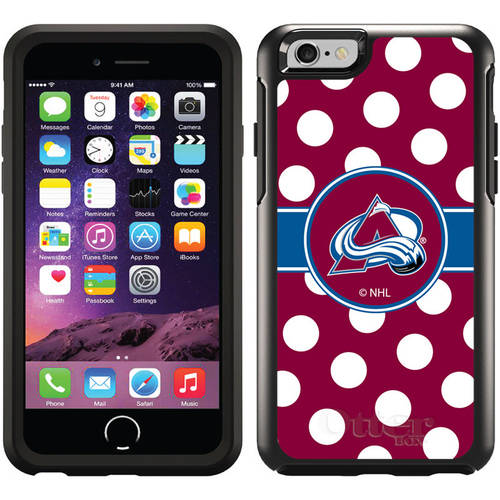 Colorado Avalanche Polka Dots Design on OtterBox Symmetry Series Case for Apple iPhone 6