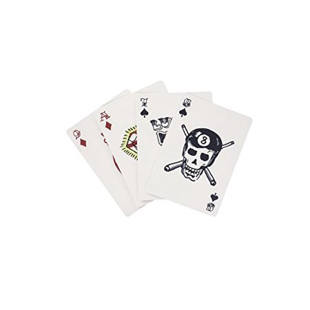 Kikkerland Tattoo Poker Size Playing Cards Coated Paper (Tattoo Playing Cards)