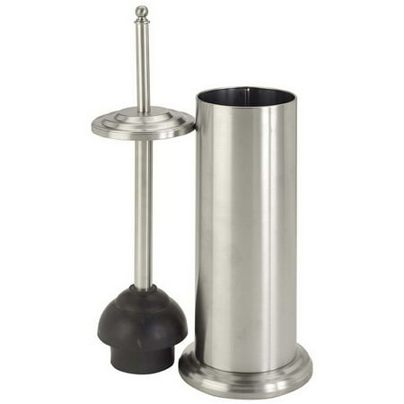 Bath Bliss Toilet Plunger with Decorated Rim, Stainless Steel ()