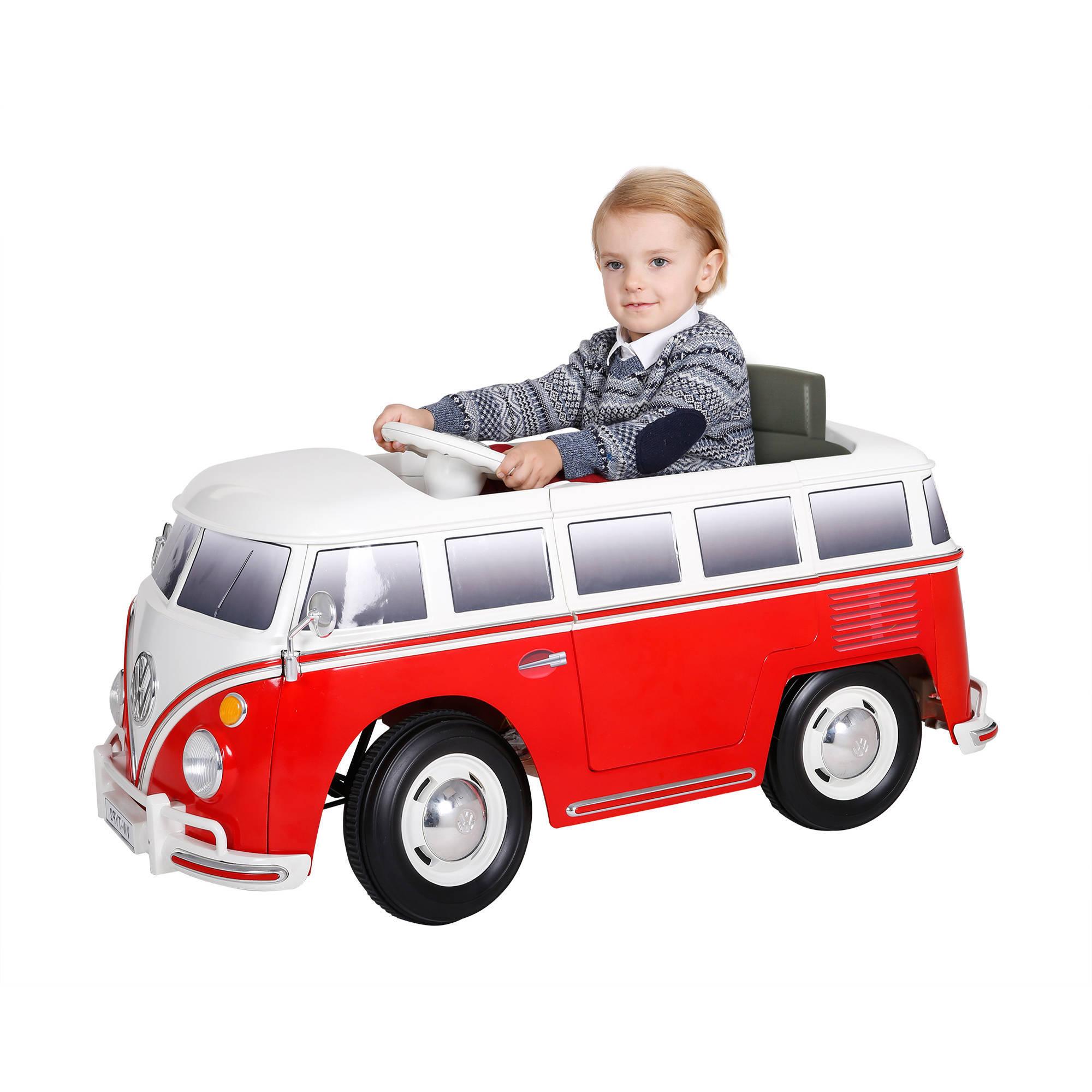 RollPlay 6V VW Bus Battery Powered Ride-On - Walmart.com