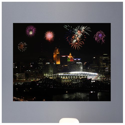 Wallhogs Batie Paul Stadium with Fireworks Wall Mural