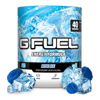 (Buy 2 & Save 20%) G Fuel Elite Energy and Endurance Powder Tub, Blue Ice, 40 Servings