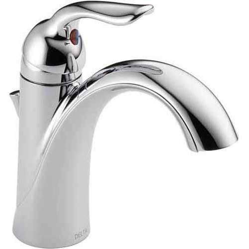 Delta Lahara Single Hole Lavatory Faucet, Available in Various Colors by Delta