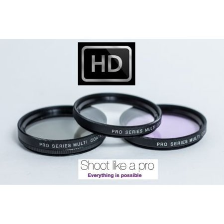 - 3PC FILTER KIT (UV + PL + FLD) FOR PANASONIC LUMIX DMC-GF5K DMC-GF5 (52 mm)