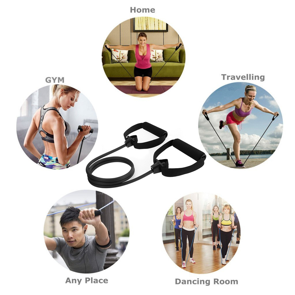 Fitness Exercise Cords Pull Rope Stretch Resistance Bands Elastic Yoga Training