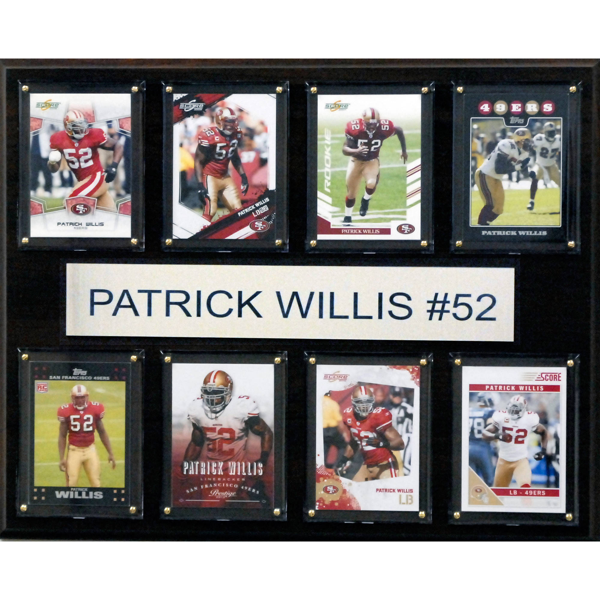 C&I Collectables NFL 12x15 Patrick Willis San Francisco 49ers 8-Card Plaque