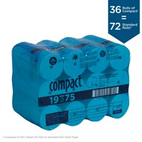 Georgia-Pacific Compact Coreless 2-Ply Recycled Toilet Paper, 19375, 1000 Sheets per Roll, 36 Rolls per Case