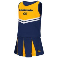 "California Golden Bears NCAA Toddler ""Pom Pom"" 2 Piece Set Cheerleader Outfit"