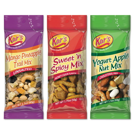 Kar's Trail Mix Variety Pack, Assorted Flavors, 24/Box - Trail Mix For Halloween