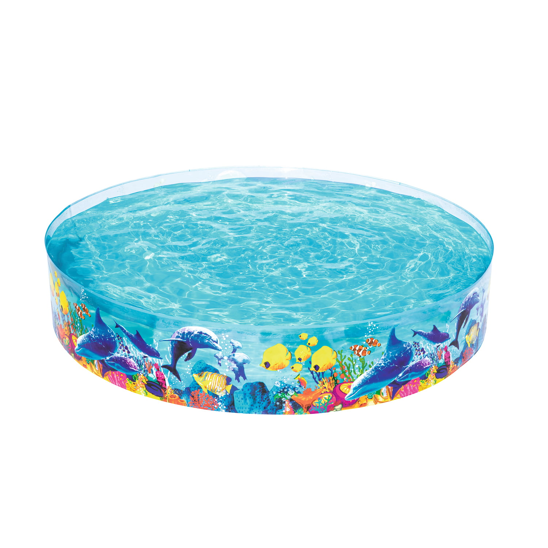 "H2OGO! Fill-n-Fun Odyssey Kiddie Play Pool, 96"" x 18"""