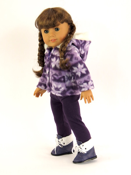 """Purple Snowflakes Outfit Fits 18"""" American Girl Dolls, Madame Alexander, Our... by"""