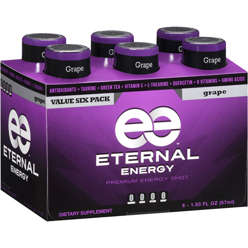 Eternal Energy Premium Energy Shot, Grape, 1.93 fl oz, 6 count