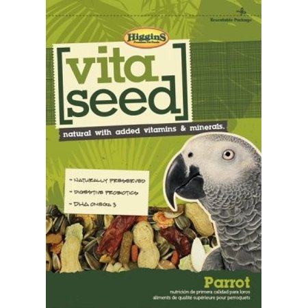 Higgins Vita Seed Parrot Bird Food, 25 Lb