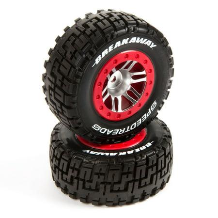 Duratrax SpeedTreads Breakaway SC Tire Front Mounted (2): Traxxas Slash/Rustler, ECX 4X4, (Traxxas Rustler Tires)