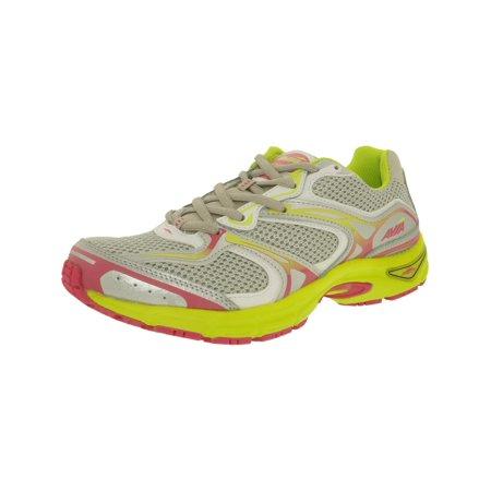 Avia Womens Endeavor Light Grey   White Lime Ankle High Cross Trainer Shoe   7M