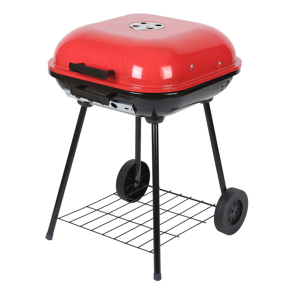 Outdoor Portable 18 Inch Picnic Camping Cooking Oven Grill Charcoal Backyard BBQ Barbecue Grill Stove With Two Wheels