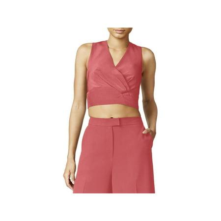 Rachel Rachel Roy Womens Sleeveless Zip-Back Crop Top
