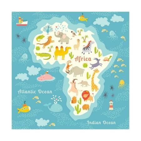 Animals world map africa beautiful cheerful colorful vector animals world map africa beautiful cheerful colorful vector illustration for children and kids print by coffeeein walmart gumiabroncs Choice Image