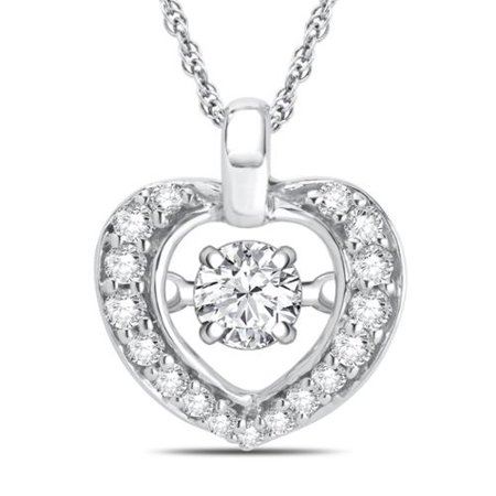 Divina sterling silver dancing diamond accent heart necklace divina sterling silver dancing diamond accent heart necklace aloadofball Image collections