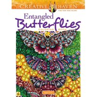 Adult Coloring: Creative Haven Entangled Butterflies Coloring Book (Paperback)
