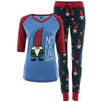 f6bfa74b86 Product Image Lazy One No Place Like Gnome Christmas Pajamas for Women