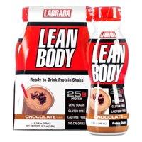 Labrada Lean Body Ready-to-Drink, Chocolate, 11.5 Fl oz, 12 Ct
